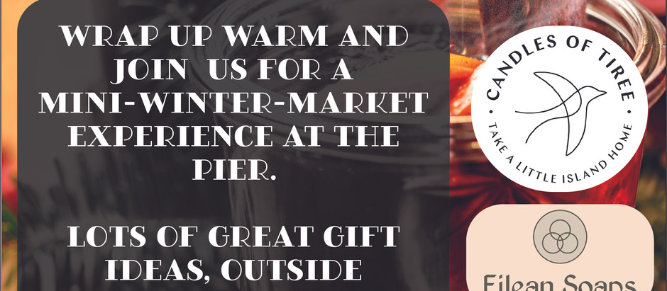 There's Joy To Be Had At Our Mini-Winter Market Shopping Experience. Weather Permitting.