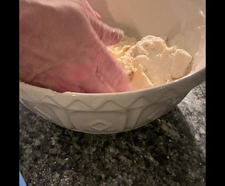 Rubbing butter and flour to 'breadcrumb' consistency