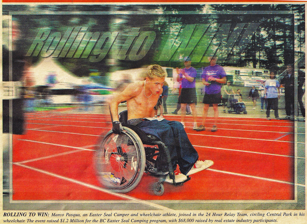 24 Relay Newspaper Clipping