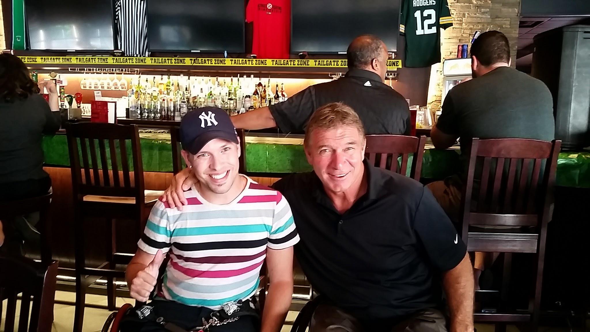 Marco and Rick Hansen at BP