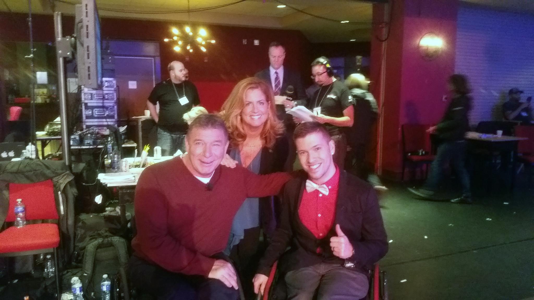 Marco with Amanda and Rick Hansen