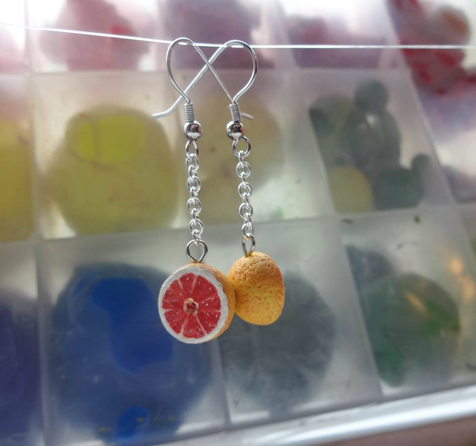 Grapefruit Earrings