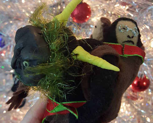 Krampus figurine back view