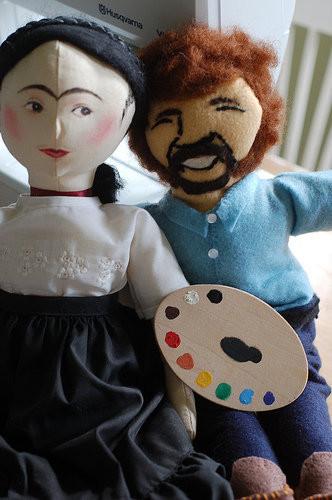 Frida & Bob Ross plushies