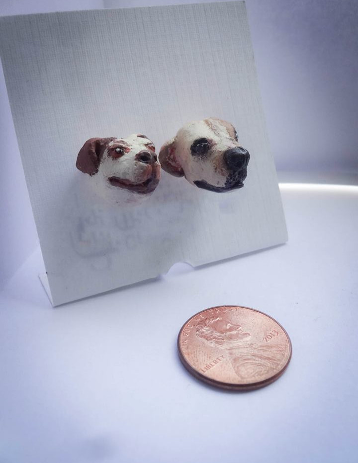 Custom Dog Earring Studs