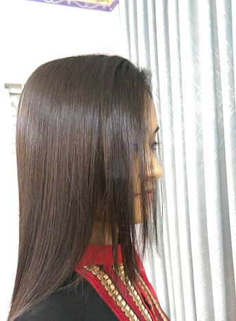 We dont like frizzy, dull, damaged hair. Through Keratin Volume Rebonding, Silk rebonding we make your hair straight, silky, shiny, soft and natural looking hair.