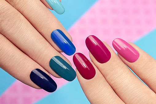 Lovely shaping and coloring of nails