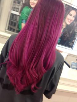 magenta hair 2