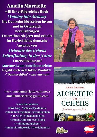 Flyer in GERMAN for Amelia Marriette sid