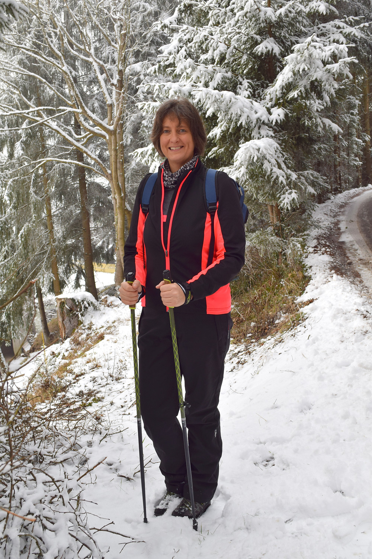 Amelia Marriette enjoying a Christmas Day Hike in Austria