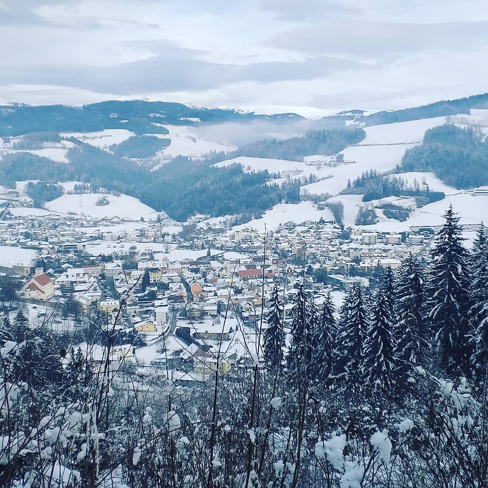 Bad Sankt Leonhard, Austria in snow