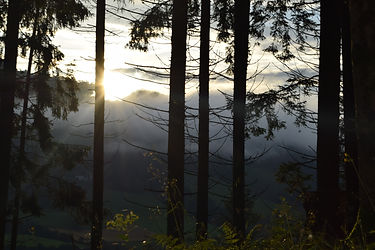 Opera North Project - The sun rising over the hills in Carinthia, Austria, image credit Amelia Marriette