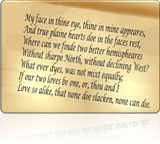Extract from The Good Morrow by John Donne