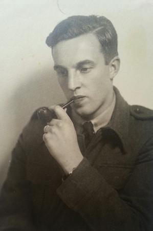 Leonard Eason, circa 1947 - in Algiers en route to Austria