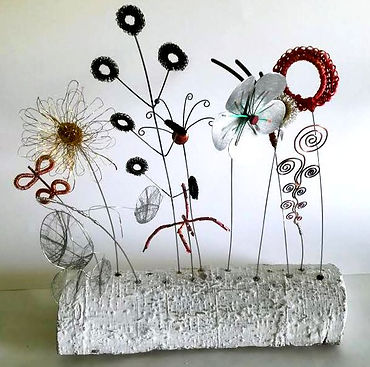 Meadow Sculpture, Wildblumen Skulptur