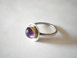 Silver ring made by Katie Gayle