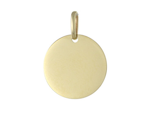 9ct Gold 17mm Round Engravable Disc