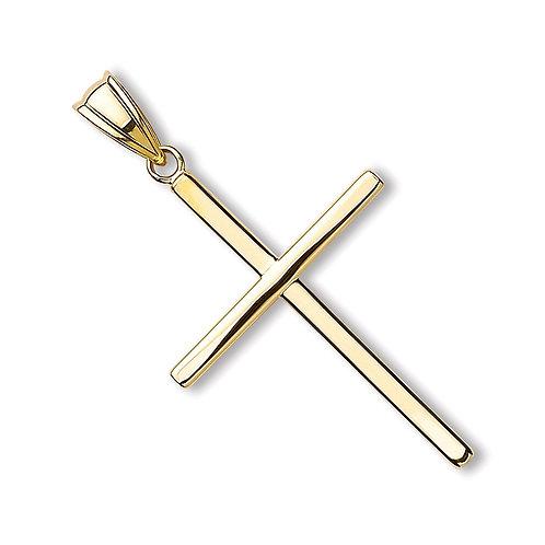 9ct Gold Plain Cross