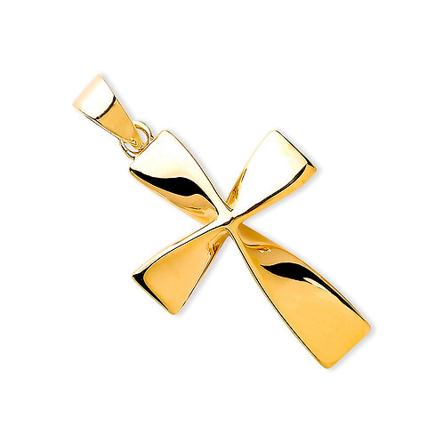 9ct Gold Twisted Cross