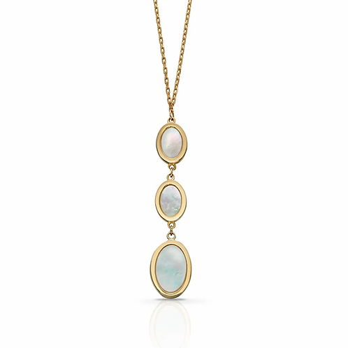 9ct Gold Mother of Pearl Triple Pendant