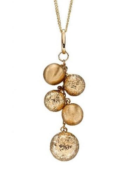 9ct Gold Multi Bead Pendant