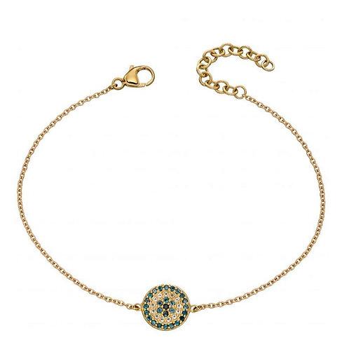 9ct Gold Evil Eye Topaz Bracelet