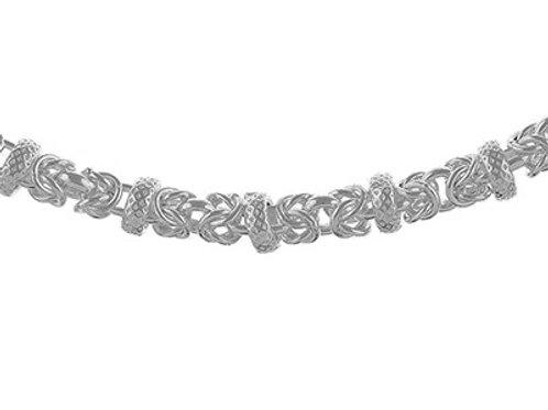 Sterling Silver Handmade Byzantine Bracelet