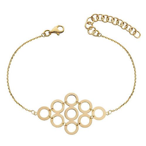 9ct Gold Geometric Circles Bracelet