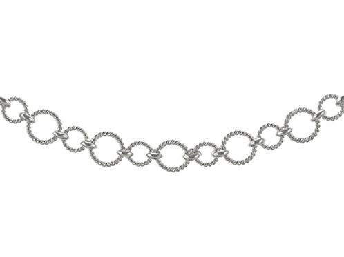 Sterling Silver Handmade Circle Bracelet