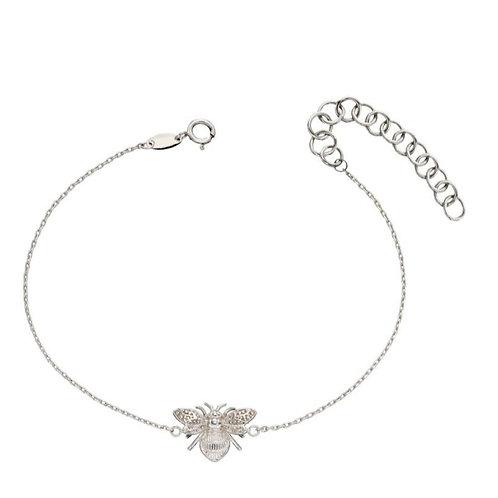 9ct White Gold Bumble Bee Bracelet