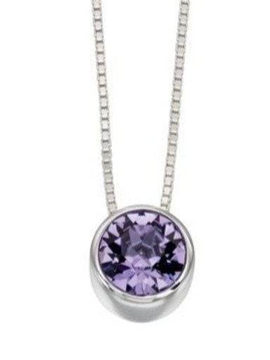 Sterling Silver Lavender Swarovski Crystal Pendant