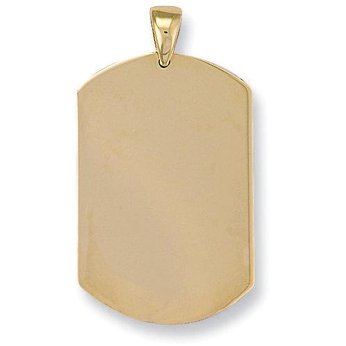 9ct Gold Rectangular Dog Tag