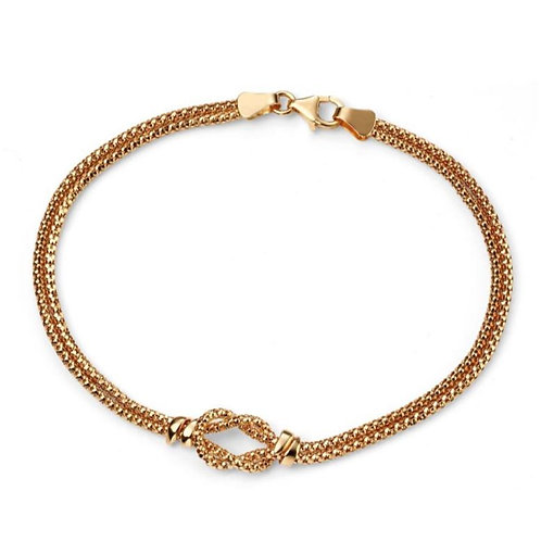 9ct Gold Popcorn Knot Bracelet