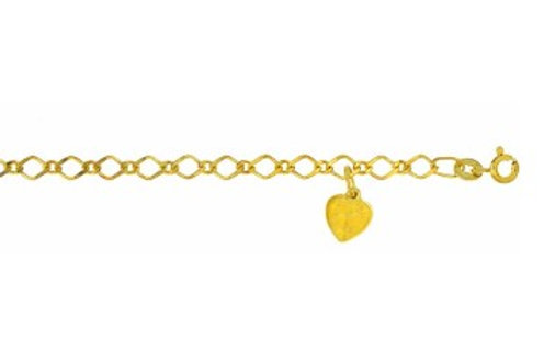 9ct Gold fancy chain with heart