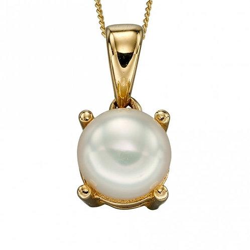 9ct Gold June Pearl Pendant