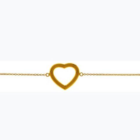 9ct Gold open heart bracelet