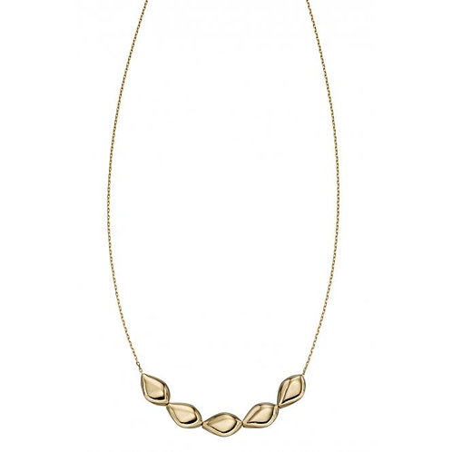 9ct Gold Organic Pebble Necklace