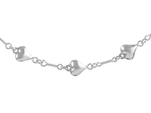 Sterling Silver Handmade Heart Bracelet