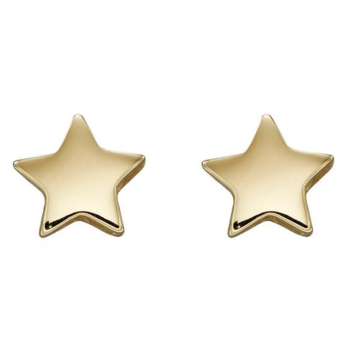 9ct Gold Star Studs