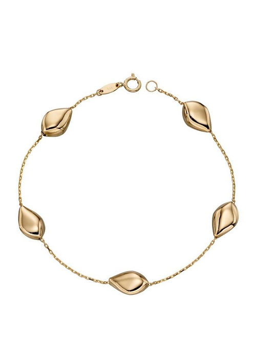 9ct Gold Organic Pebble Bracelet