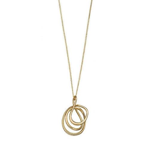 9ct Gold Wire Twist Pendant