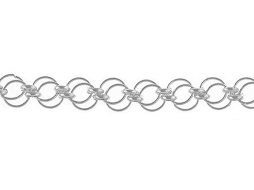 Sterling Silver Handmade Double Circle Bracelet