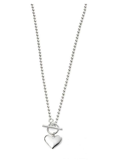 Sterling Silver Ball Chain with Heart Dropper