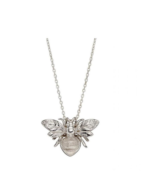 9ct White Gold Bumble Bee Pendant