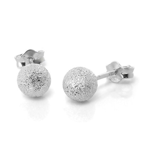 Sterling Silver Frosted studs