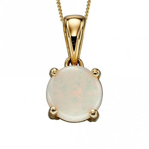 9ct Gold October Opal Pendant
