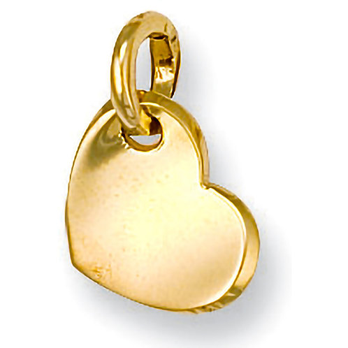 9ct Gold Heart Charm/Pendant