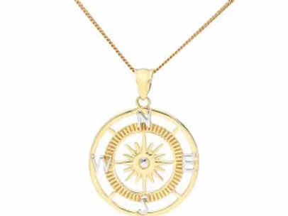 9ct Gold Compass pendant