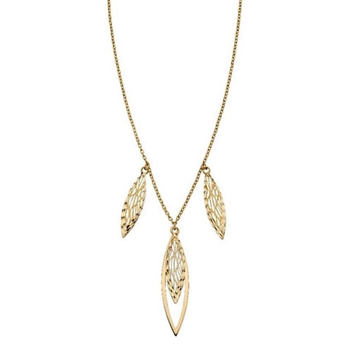 9ct Gold Overlapping Filigree Necklace