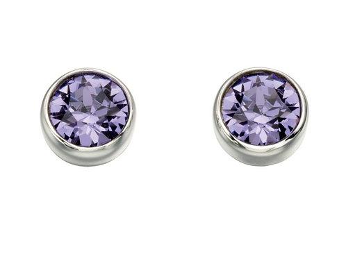 Sterling Silver Lavender Swarovski Crystal Studs